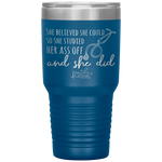 southern nurse tumblers - BSN gifts - Stethoscope Cup - Believed She Could Studied Ass Off And Did - living life in scrubs