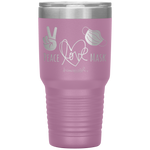 nurse tumblers - LPN Gifts - Peace Love Mask - Wear A Mask Tumbler - living life in scrubs