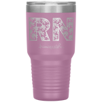 laser engraved tumblers - nursing student gifts - RN Floral Tumbler - living life in scrubs