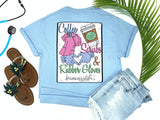 Southern Nurse Tees - Coffee Scrubs Rubber Gloves - Shirts With Sayings - Nursing School Student Grad Gift - Cute LPN T-Shirt - Preppy RN BSN Clothes - Medical College Shirt - Comfort Wear - Simply A blue Graphic Tee