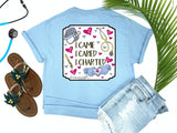 Southern Nurse Tees - Living Life In Scrubs - I Came I Cared I Charted - Shirts with Sayings - RN Life - Scrub LPN - Preppy Comfort wear - Nurse Gift - Medical T-Shirt - Stethoscope Top - Simply a blue Graphic Tee - Nursing Student Grad top