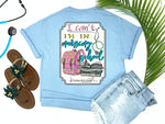 Southern Nurse Tees - Can't I'm In Nursing School - Shirts With Sayings - Cute Backpack T-Shirt - RN Student Books - living life in scrubs - Stethoscope LPN Top - Medical Gift - Womens Preppy Clothes - Comfort Wear - Simply A blue Graphic Tee