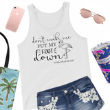 simply southern style - don't make me put my foot down - flamingo sleeveless top - coastal vacation gifts - living life in the sun