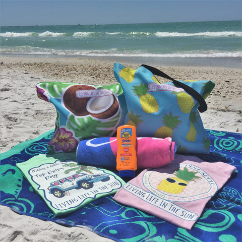 Beach Tote, Coconut Tote, Palm Tote, Hibiscus Tote, Southern Tote, Coastal Tote, Preppy Tote, Tropical Tote, Vacation Tote, Beach Bag, Bag