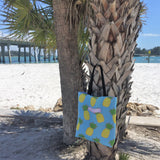 Pineapple Tote Bag, Preppy Pineapple Tote, Beach tote, Pink Pineapple Tote, Southern Tote Bag, Coastal Tote, Cute Pineapple Tote, Tote Bag