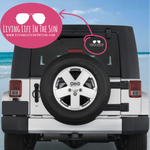 Living life In The Sun, Car Decal, Vinyl Car Decal, Beach Car Decal, Preppy Car Decal, Beach Babe Car Decal, Coastal Car Decal, Sunglasses Car Decal, Sun Car Decal, Florida Car Decal, Southern Car Decal, Preppy Car Decal, Beach Life Car Decal