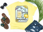shirts with sayings - when life hands you lemons make lemonade - tropical fruit tee - yellow t shirt - southern beach t shirt - living life in the sun