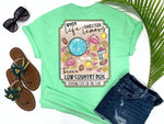 simply southern style - throw a low country boil - when life hands you lemons - shrimp tee - crab shirt - mint green t-shirt - coastal vacation gifts - living life in the sun