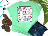 Southern Nurse Tees - Living Life In Scrubs - I Came I Cared I Charted - Shirts with Sayings - RN Life - Scrub LPN - Preppy Comfort wear - Nurse Gift - Medical T-Shirt - Stethoscope Top - Simply a mint green Graphic Tee - Nursing Student Grad top