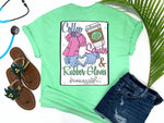 Southern Nurse Tees - Coffee Scrubs Rubber Gloves - Shirts With Sayings - Nursing School Student Grad Gift - Cute LPN T-Shirt - Preppy RN BSN Clothes - Medical College Shirt - Comfort Wear - Simply A Mint Green Graphic Tee