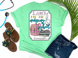 Southern Nurse Tees - Can't I'm In Nursing School - Shirts With Sayings - Cute Backpack T-Shirt - RN Student Books - living life in scrubs - Stethoscope LPN Top - Medical Gift - Womens Preppy Clothes - Comfort Wear - Simply A mint green Graphic Tee