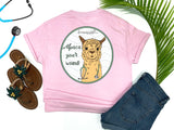 Southern Nurse Tees - Living Life In Scrubs - Alpaca Your Wound - Shirts With Sayings - LLAma T-Shirt - RN Comfort Wear - Preppy LPN Medical Top - Nursing Student Grad Gift - Cute Women Animal Shirt - Simply a pink graphic Tee