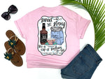 southern tees - sweet and strong like a cup of southern tea - teacup and whiskey tshirt - preppy cute teacup with whiskey bottle and sugar sack - women southern clothes - living life in the sun