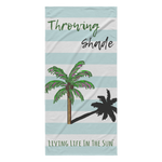 Living Life In The Sun, Throwing Shade, Beach Towel, Preppy Towel, Coastal Towel, Pink Palm Tree, Preppy Palm, White Blue Stripe, Southern Towel, Colorful Towel