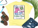 Southern Nurse Tees - Coffee Scrubs Rubber Gloves - Shirts With Sayings - Nursing School Student Grad Gift - Cute LPN T-Shirt - Preppy RN BSN Clothes - Medical College Shirt - Comfort Wear - Simply A yellow Graphic Tee