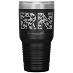 southern nurse tumblers - BSN Gifts - RN Floral Tumbler - living life in scrubs