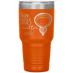 living life in scrubs - size does matter - bladder, urethra, prostate gland - etched stainless steel vacuum insulated tumbler - powder coated tumbler - nurse tumbler - anatomy tumbler - nurse gift - anatomy gift - funny medical tumbler - living life in the sun - hot or cold mug - water coffee alcohol container