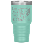 vacuum insulated tumblers - healthcare gifts - it takes guts to be a nurse - intestines anatomy cup - living life in scrubs
