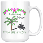 Living Life In The Sun, Throwing Shade, Coffee Mug, Coastal Mug, Beach Mug, Coffee Cup, Preppy Mug, Palm Tree Mug, Beach House Dishes, Southern Mug, Coffee Gift