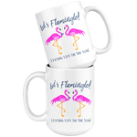 Let's Flamingle, Coffee Mug, Coastal Mug, Preppy Mug, Flamingo Cup, Flamingo Mug, Southern Mug, Coffee Gift, Mug With Saying, Coffee Cup