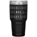 tumblers with sayings - RN gifts - cardiology EKG Wave alphabet tumbler - qrs complex - living life in scrubs