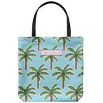 southern beach bags - southern beach totes - pink palm tree tote - summer tote bag - living life in the sun