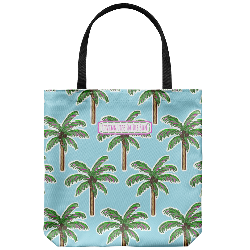 Pink Palm Tote, Palm Tree Tote, Palm Tree Bag, Beach Bag, Beach Tote, Tropical Tote, Pink Palm Tree, Preppy Tote, Southern Tote, Coastal Bag
