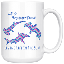 It's Hammertime, Coffee Mug, Shark Cup, Shark Mug, Chevron Mug, Girly Shark, Shark Gift, Pink Blue Chevron, Coffee Gift, Cute Shark Mug