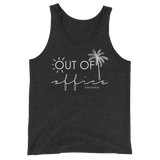 southern beach tees - out of office - palm tree vacation tank - women beach clothes - living life in the sun