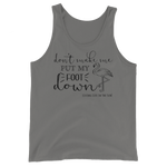 beach tank top - don't make me put my foot down - flamingo tank - Florida fashion - living life in the sin