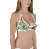 Living Life In The Sun, Coconut Hibiscus, Two Piece Reversible Swimsuit, Tropical bikini, Preppy bikini, Coconut Swimsuit, Bathing Suit, Hibiscus Swimsuit, Palm, Simply Southern Style