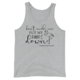 southern beach tank top - don't make me put my foot down - Flamingo Flamingo Shirt - women beach clothes - living life in the sun