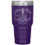 tumblers with sayings - RN gifts - just breathe - lung anatomy cup - living life in scrubs