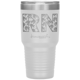 nurse tumblers - RN Pinning Ceremony Gift - RN Floral Tumbler - living life in scrubs