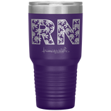 double wall insulated tumblers - Registered Nurse Gifts - RN Floral Tumbler - living life in scrubs