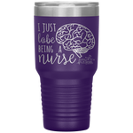 stainless steel tumblers - nurse practitioner gifts - i just lobe being a nurse - brain anatomy tumbler - living life in scrubs