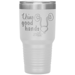 living life in scrubs - urine good hands - kidneys ureters bladder - etched double wall insulated stainless steel - powder coated tumbler - living life in the sun - nurse tumbler - nursing student tumbler - anatomy tumbler - medical gift - water coffee alcohol mug