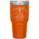 laser etched tumblers - nursing school cup - just breathe - lung anatomy cup - living life in scrubs