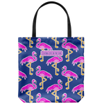 southern beach bags - southern beach totes - preppy flamingo printed bag - summer tote bag - living life in the sun