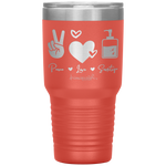 tumblers with sayings - RN gifts - peace love sanitize - living life in scrubs