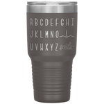 laser etched tumblers - nursing school cup - cardiology EKG Wave alphabet tumbler - qrs complex - living life in scrubs