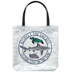 southern beach bags - southern beach totes - shark sea turtle and stingray bag - respect the locals -summer tote bag - living life in the sun