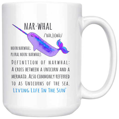 Unicorns of The Sea, Narwhal Coffee Mug, Narwhal Cup, Coastal Mug, Colorful Mug, Preppy Mug, Ocean Sea Life Cup, Coffee Cup, Whimsical