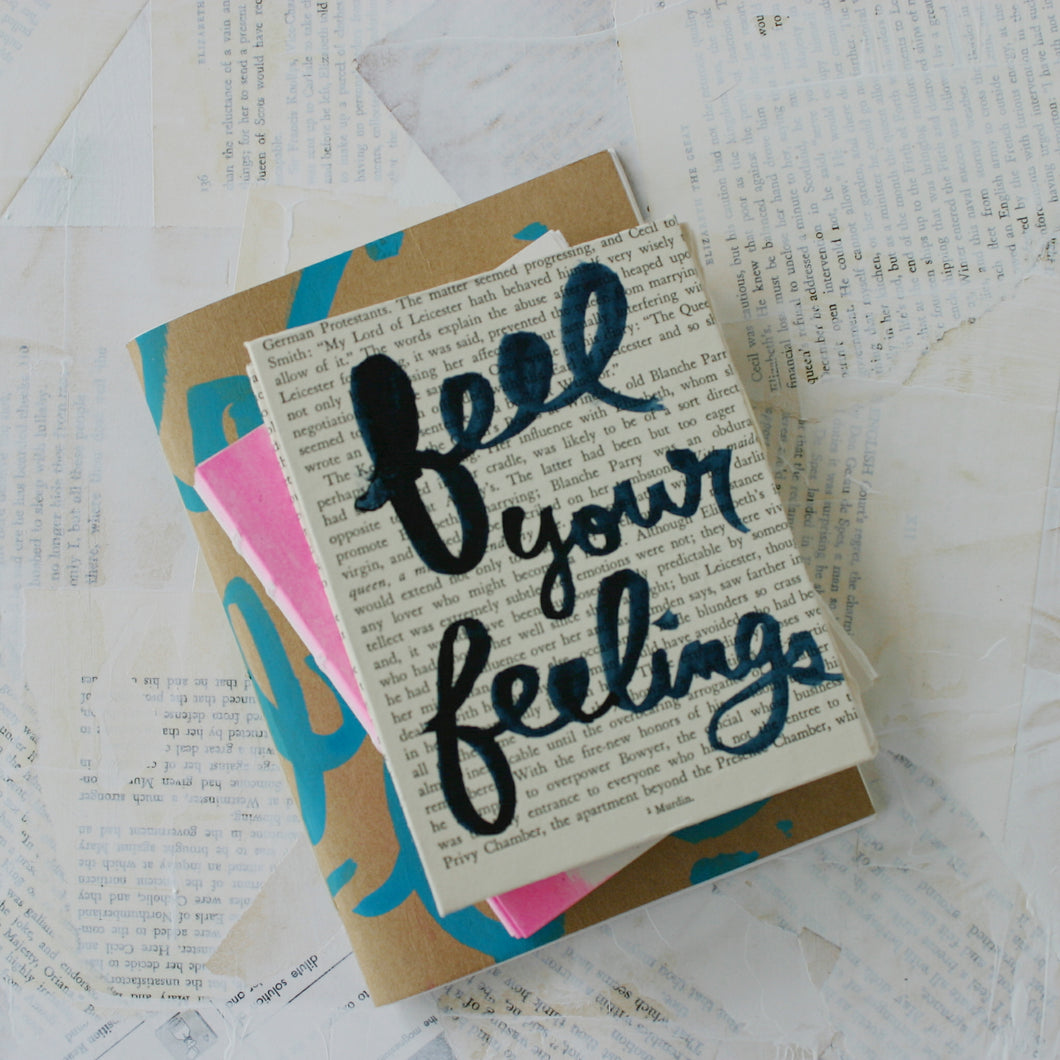 Feel Your Feelings Handmade Book