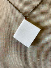 "30"" White Mini Leather Journal Necklace"
