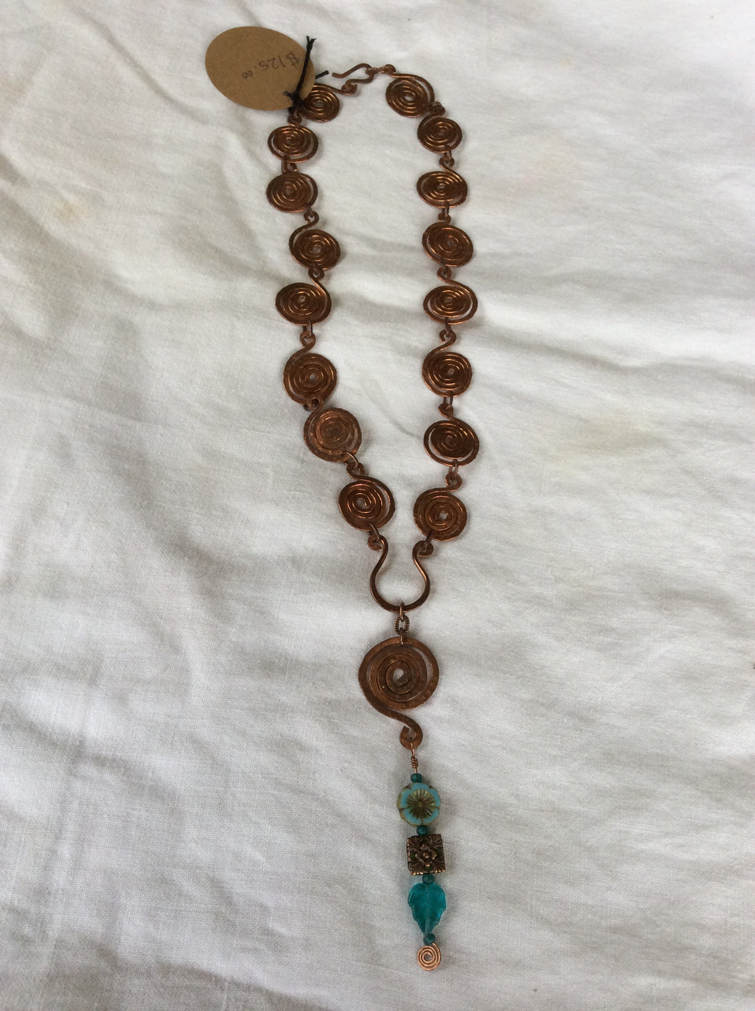 Hand Forged Copper & Turquoise Necklace