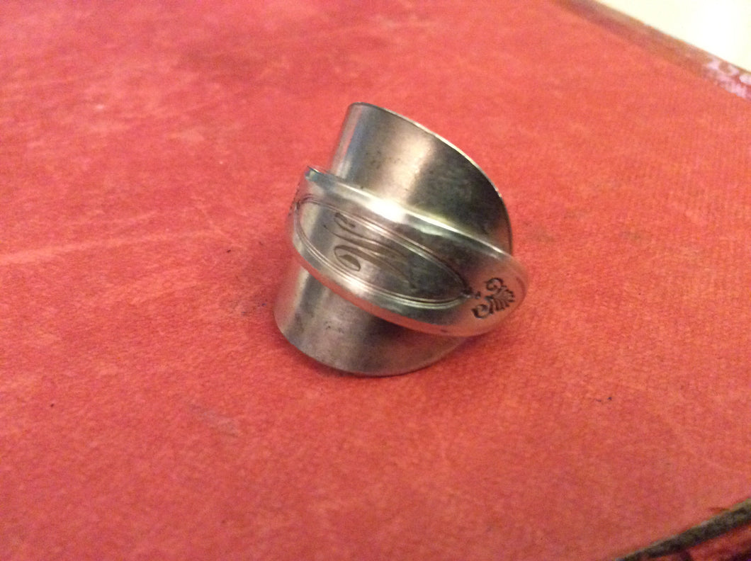 Spoon ring double wrapped 25