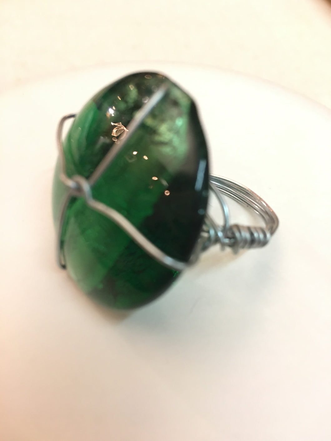 Green and Metal Ring