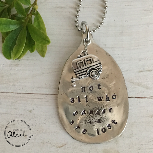 All Who Wander are Not Lost Necklace