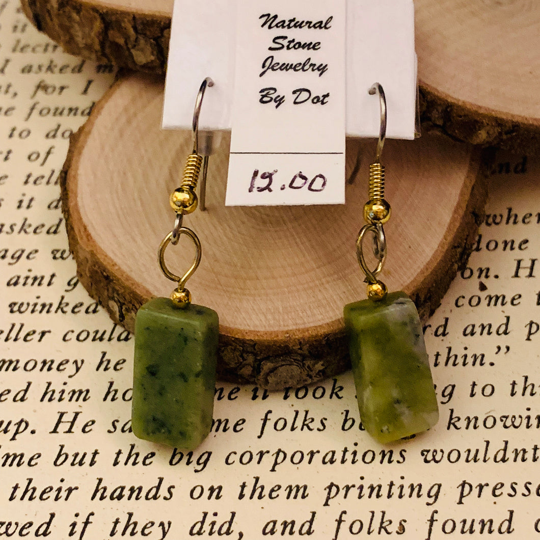Serpentine and Surgical Steel Earrings